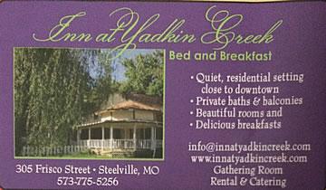 Ad for Yadkin Creek