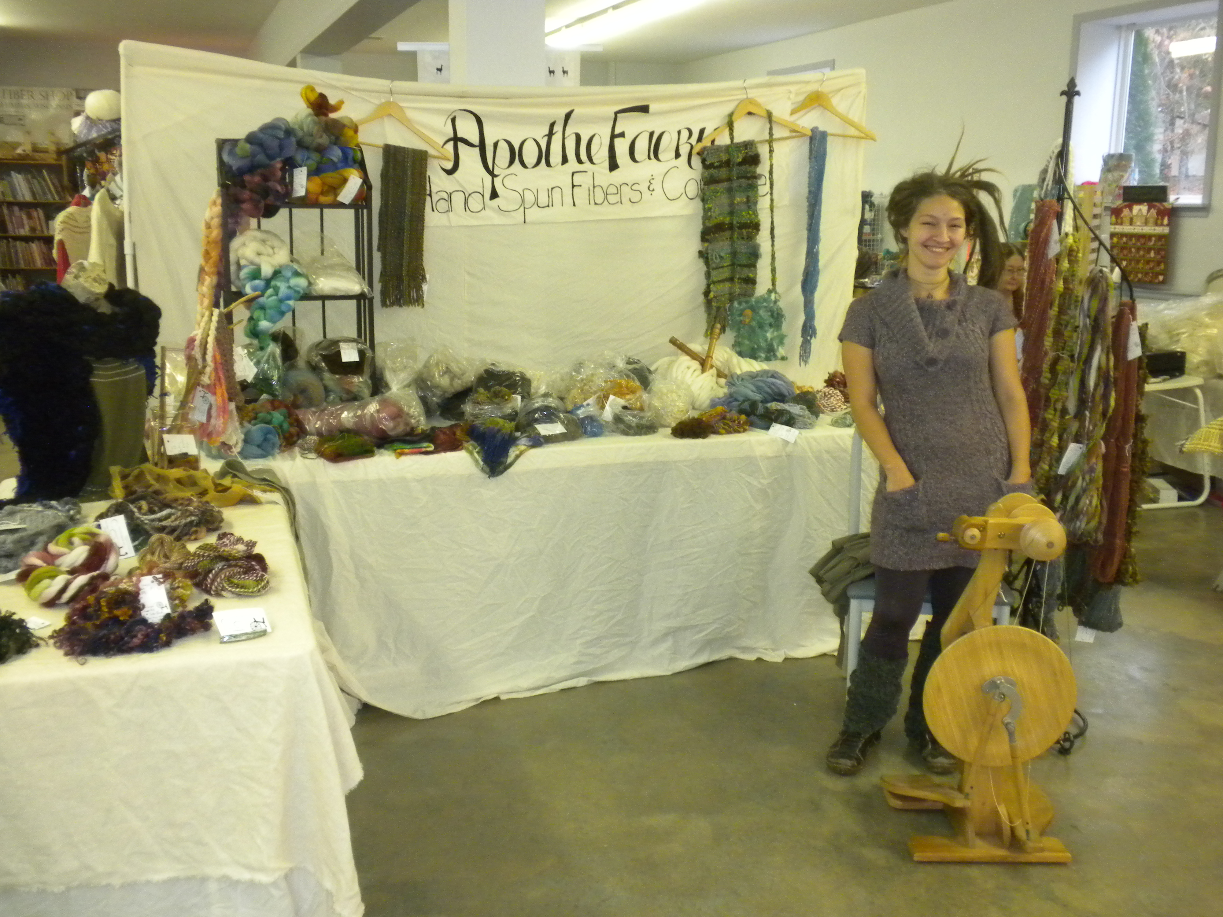 The Apothefaery and her booth.