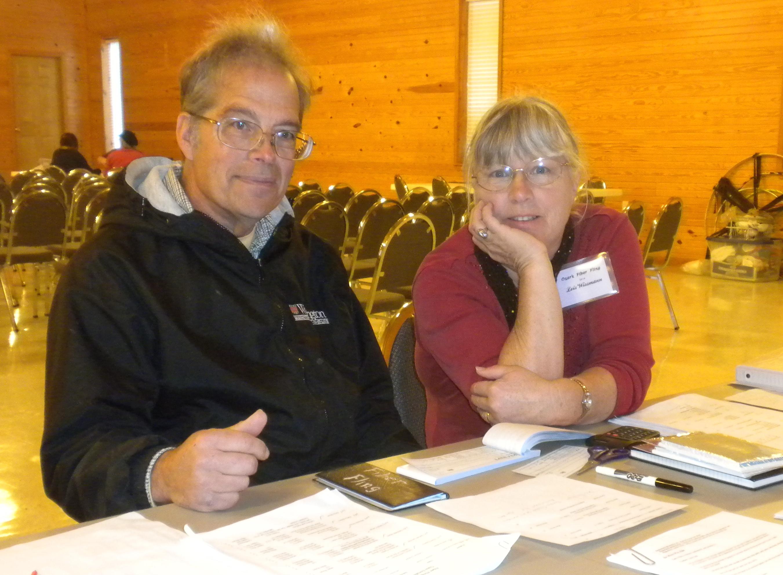 Lois and Don Wissmann at the Checkin Desk