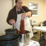 Linda Little teaching natural dyeing.
